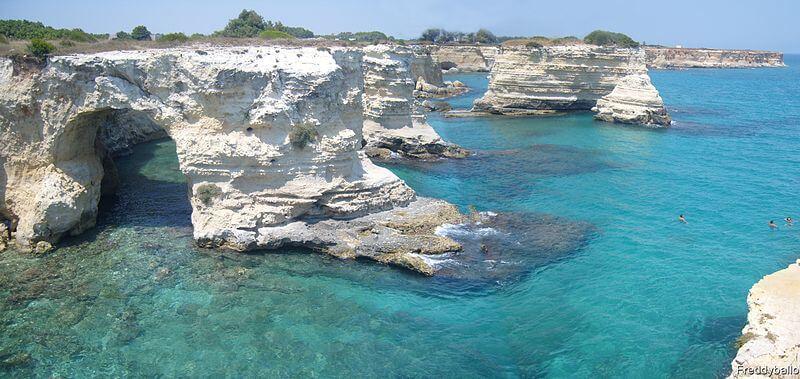 Priaa de Torre Sant'Andrea, perto de Lecce, é um dos muitos lugares paradisíacos na Itália